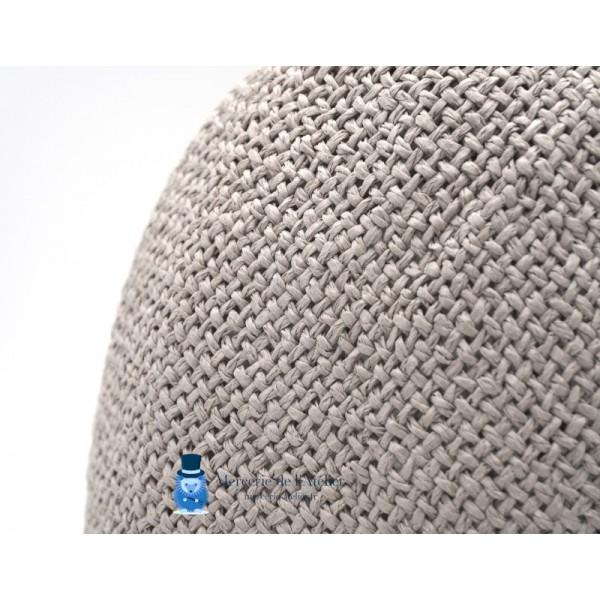 Cône au crochet - Gris Perle