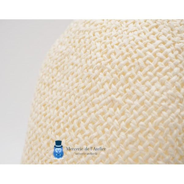 Cône au crochet - Blanc