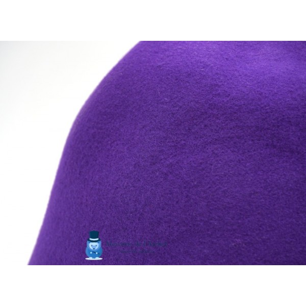 Cône feutre de laine - Violet