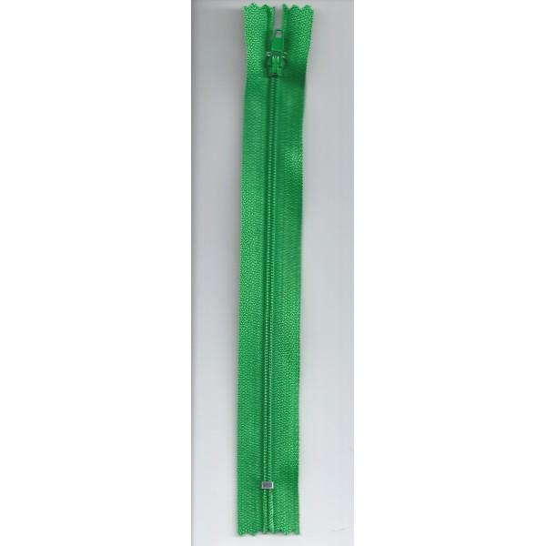 Fermeture à glissière - Vert gazon - 18cm