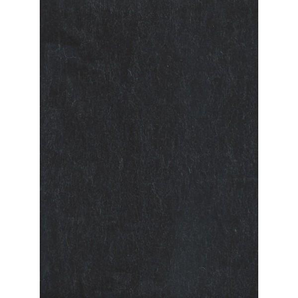 Feutre de col - Noir Chiné - 30x45cm - Laine