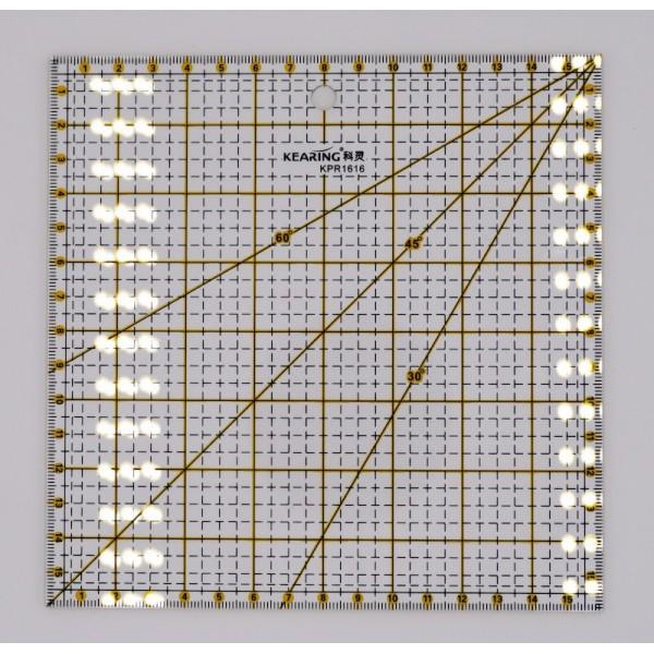 Règle patchwork 15cm x 15cm