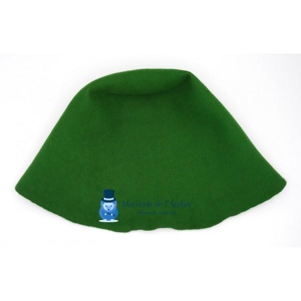 Cône feutre de laine - Vert Petit Pois