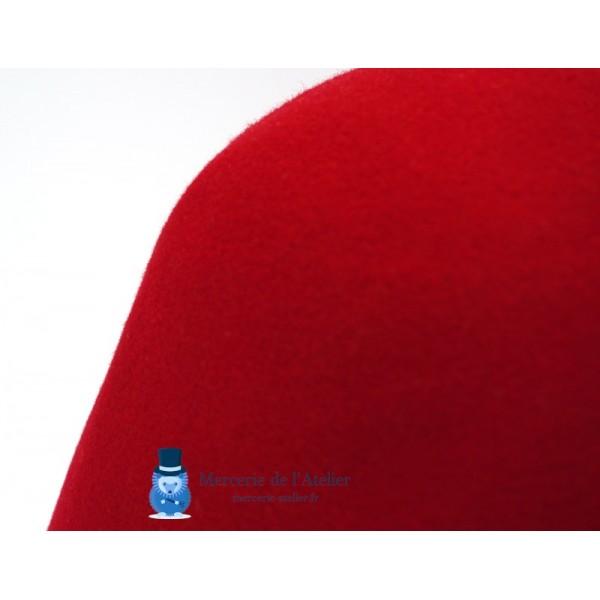 Cône feutre de laine - Rouge Cerise