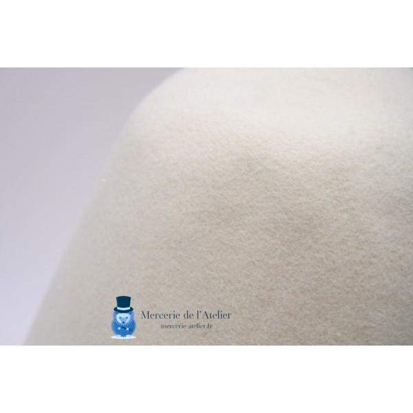 Cône feutre de laine - Blanc
