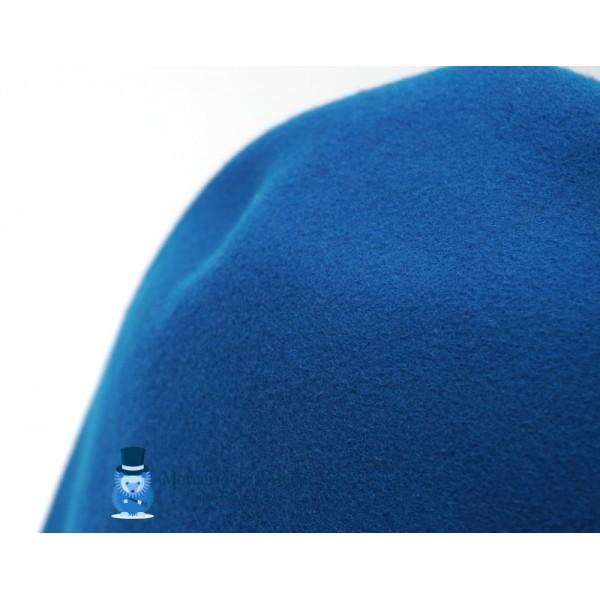 Cône feutre de laine - Bleu Canard