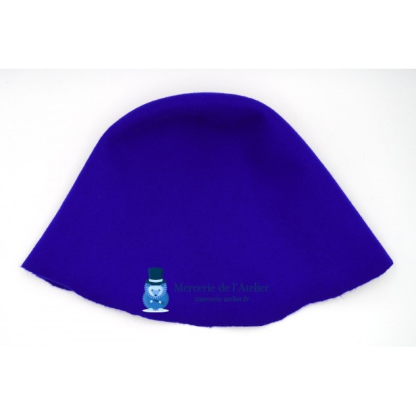 Cône feutre de laine - Bleu Roi