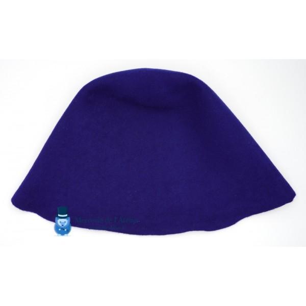 Cône feutre de laine - Bleu Cobalt