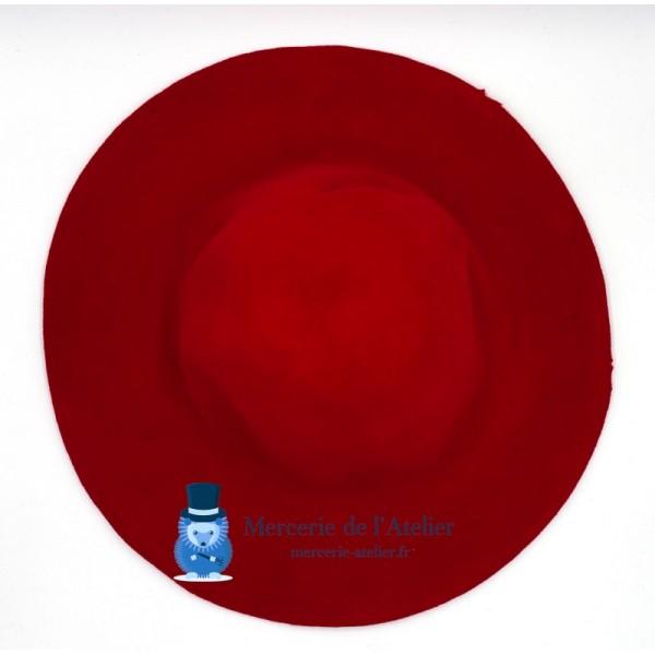 Capeline feutre de laine - Rouge Cerise