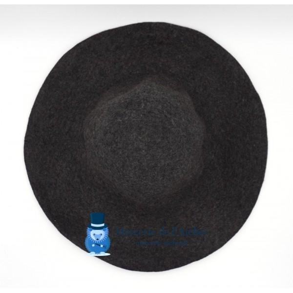 Capeline feutre de laine - Gris Anthracite chiné