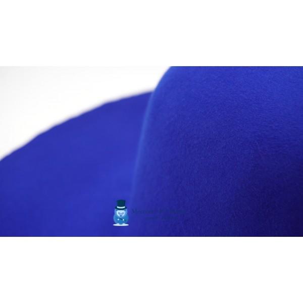 Capeline feutre de lapin - Bleu Roi