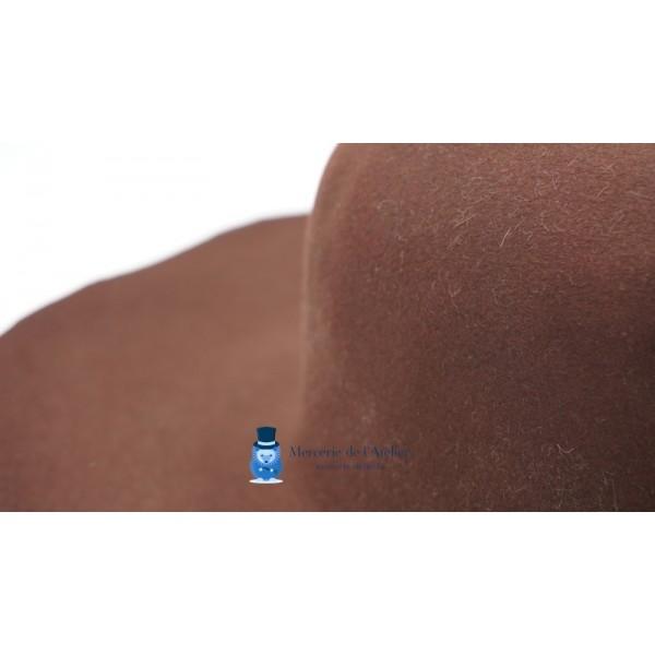 Capeline feutre de lapin - Chocolat