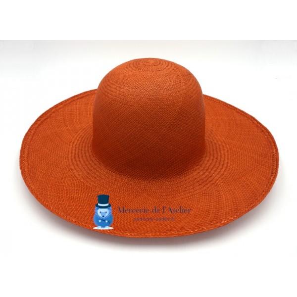 Capeline panama - Orange Brûlée