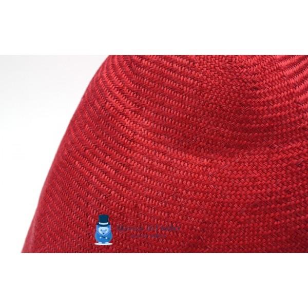 Cône en sisal - Rouge Cerise